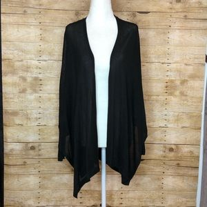 Zara knits sheer high low cape with sleeve